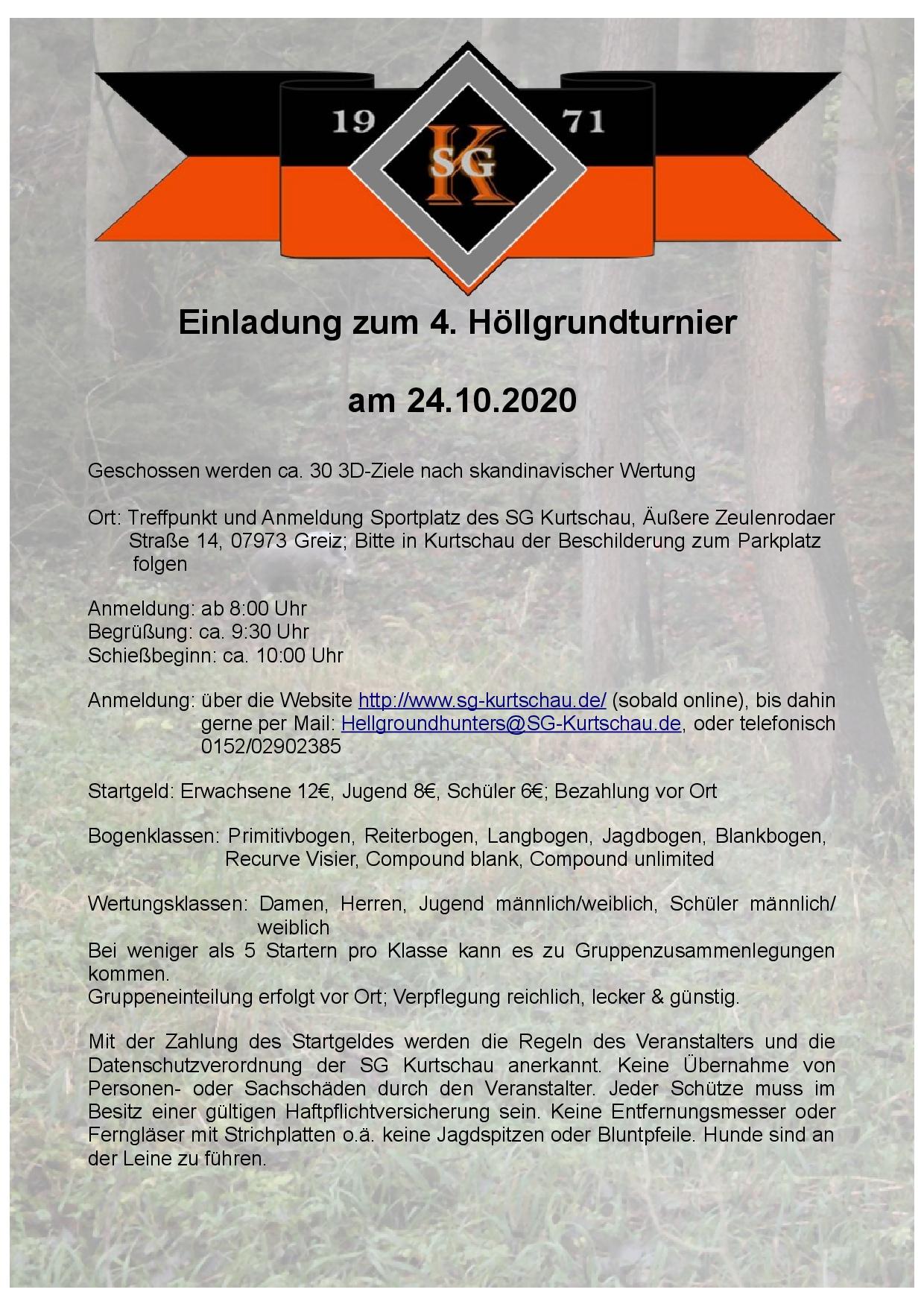 Einladung 4. Höllgrundturnier 2020