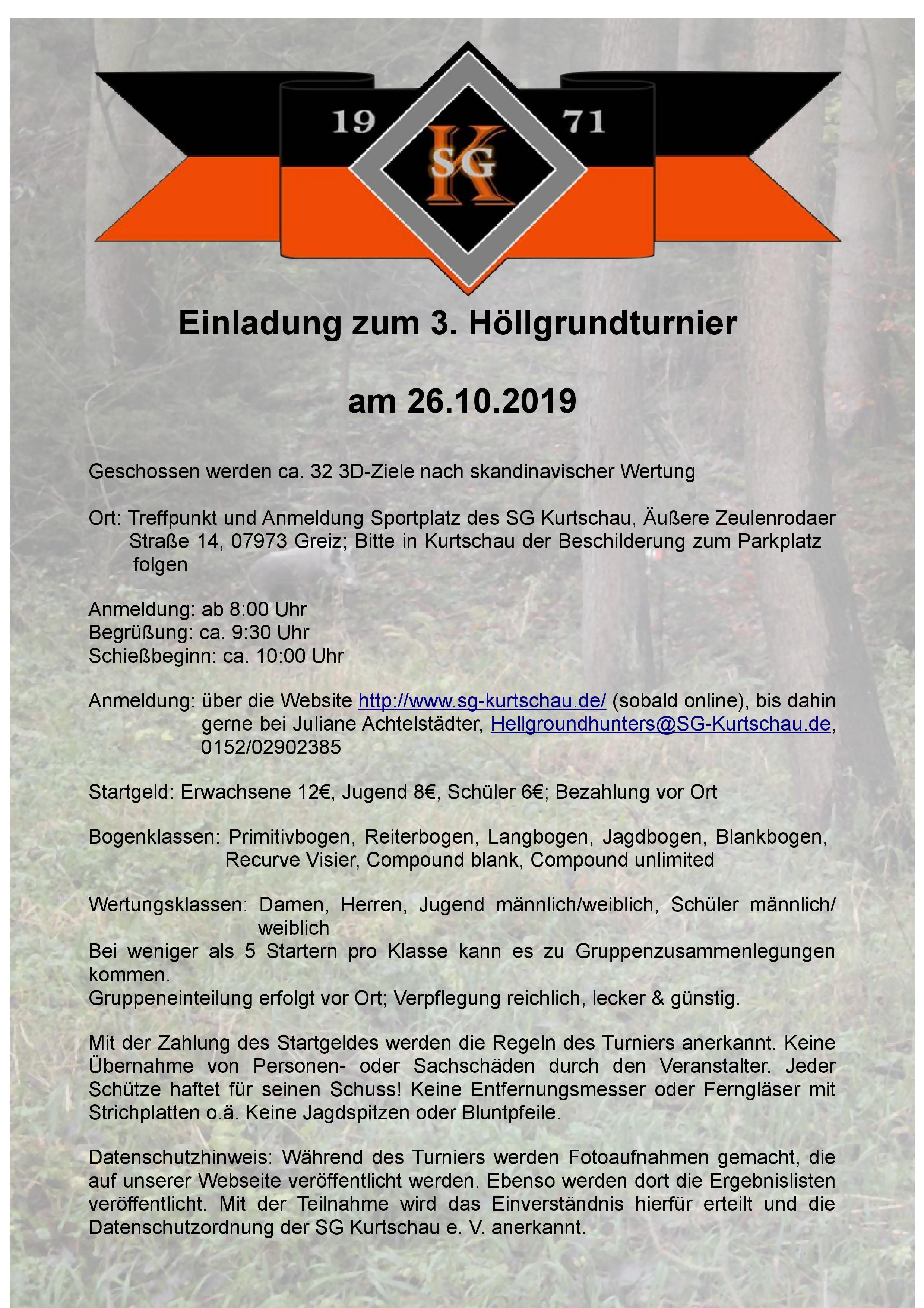 Einladung 3. Höllgrundturnier 2019